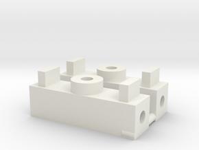 Scale Craft O Scale Bolster 1pr in White Natural Versatile Plastic