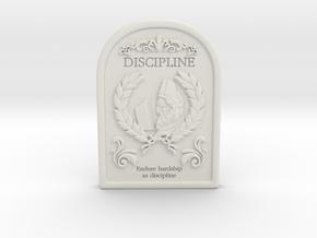 Resident Evil 0: Discipline tablet in White Natural Versatile Plastic