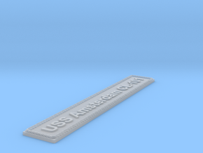Nameplate USS Amsterdam CL-101 in Smoothest Fine Detail Plastic