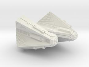 3788 Scale Tholian X-Ship Command Cruiser (CCX) SR in White Natural Versatile Plastic