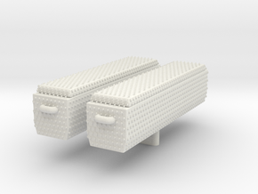 1/87 Diamond Plate Toolboxes (set of 2) in White Natural Versatile Plastic