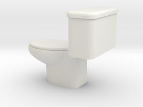 1/64 toilet in White Natural Versatile Plastic: 1:64 - S