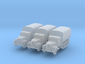 Ford V3000 Maultier early (covered) (x3) 1/285 in Smooth Fine Detail Plastic