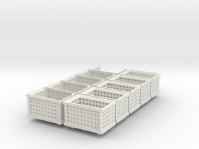 Shipping Crate Stackable 10 Pack 1-87 HO Scale in White Natural Versatile Plastic