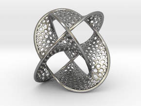 Borromean Rings Seifert Surface (5cm) in Natural Silver