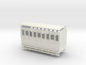 009 4w Long 3rd class Coach in White Natural Versatile Plastic