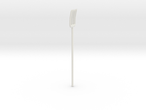 High Grade 1/144 model pitchfork  in White Natural Versatile Plastic