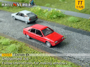 Citroën BX (TT 1:120) in Smooth Fine Detail Plastic