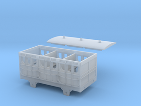 Broad Gauge 1st Class 4-Wheel Coach (N Scale) in Smooth Fine Detail Plastic