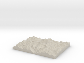 Model of The Trench in Natural Sandstone