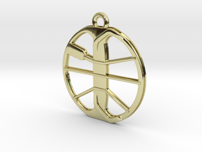Minelab Equinox Coil Metal Detector Pendant in 18k Gold Plated Brass