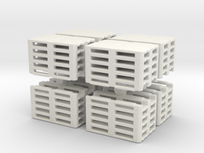 Euro Pallet Stack (x8) 1/87 in White Natural Versatile Plastic