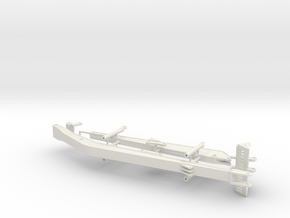 1/50th Long boom and stick for Excavator in White Natural Versatile Plastic