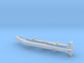 1/50th Long boom and stick for Excavator in Smooth Fine Detail Plastic