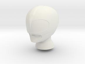 8 in MMPR Pink Helmet in White Natural Versatile Plastic
