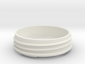 Top of Mask in White Natural Versatile Plastic