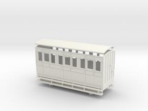 009 4w Long 1st class Coach in White Natural Versatile Plastic