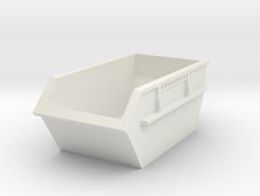 Construction Waste Container 1/48 in White Natural Versatile Plastic