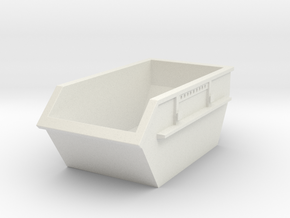 Construction Waste Container 1/43 in White Natural Versatile Plastic