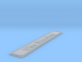 Nameplate Otto Sverdrup in Smoothest Fine Detail Plastic