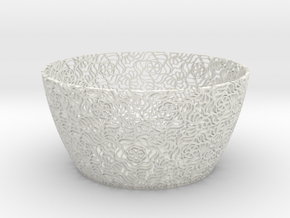 Basket 1 in White Natural Versatile Plastic