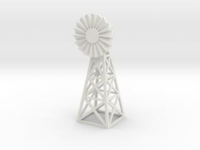 Steel Windmill 1/35 in White Natural Versatile Plastic