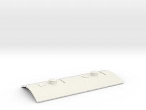 Bingley Works O-16.5 Coach kit roof - Vented in White Natural Versatile Plastic