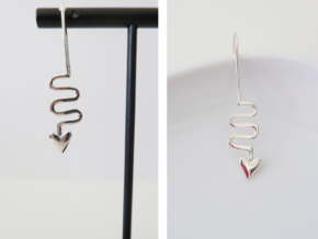 Path of the Heart Earrings in Polished Silver