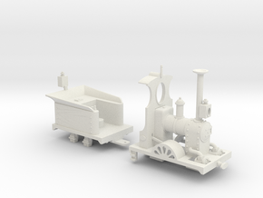 Far Twittering Locomotive Ethel in White Natural Versatile Plastic