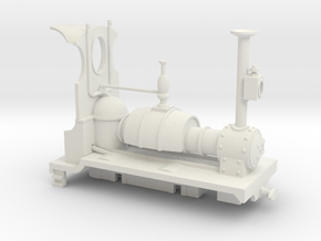 Far Twittering Locomotive Gladys in White Natural Versatile Plastic