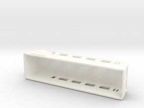 Swedish wagon for railcar UCFo1 / UCFo2 H0-scale in White Processed Versatile Plastic