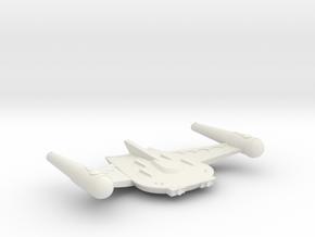 3788 Scale Romulan X-Ship BattleHawk-X Destroyer in White Natural Versatile Plastic