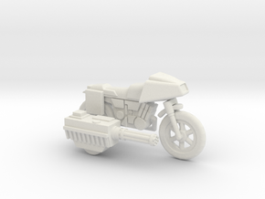 GV13 Armed SF Motorcycle (28mm) in White Natural Versatile Plastic