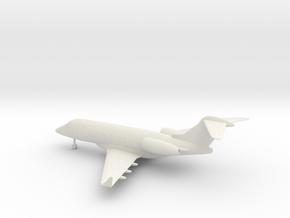 Bombardier Challenger 300 in White Natural Versatile Plastic: 1:144