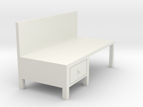 Workbench Table 1/76 in White Natural Versatile Plastic