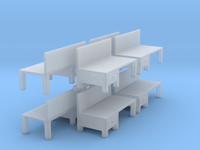 Workbench Table (x8) 1/285 in Smooth Fine Detail Plastic