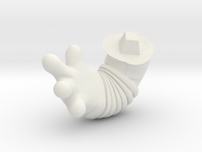 Chicken-Hand-r-dyna in White Natural Versatile Plastic