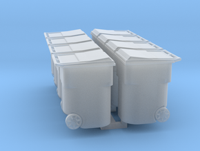 Residential Trash Receptacle 1-87 HO Scale Hollow  in Smooth Fine Detail Plastic