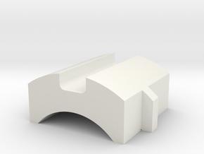 GX16 Cap (25.8mm) in White Natural Versatile Plastic