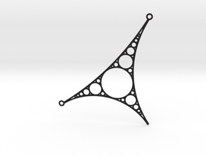 Apollonian Necklace - Version 1 in Black Natural Versatile Plastic