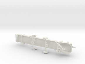1/64th Spudnik type 30' portable produce conveyor in White Natural Versatile Plastic