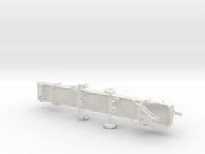 1/64th Spudnik type 30' portable produce conveyor in White Natural Versatile Plastic