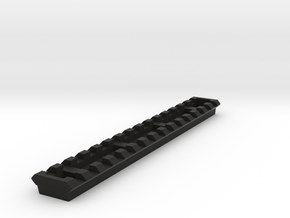 MPX Full-Length 15-Slots Lightweight Picatinny Rai in Black Natural Versatile Plastic