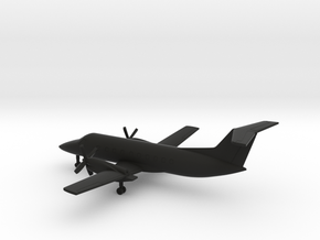 Embraer EMB-120 Brasilia in Black Natural Versatile Plastic: 6mm