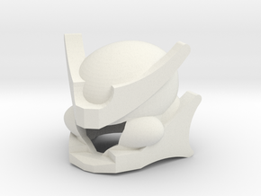 Robohelmet: Extinct Plator in White Natural Versatile Plastic