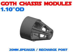 GCM110-03-04 - Combo 20mm Speaker + Recharge port in White Natural Versatile Plastic