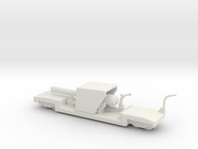9.2 mk 1a truck 1/160 ww1 railway artillery  in White Natural Versatile Plastic