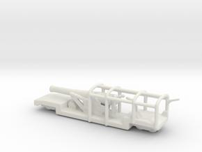 9.2 mk 1a  truck 1/160   railway artillery ww1 in White Natural Versatile Plastic