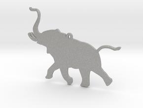 Trumpeting Elephant in Aluminum