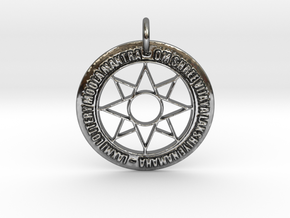 Goddess Laxmi Star & Mantra for Lottery in Fine Detail Polished Silver